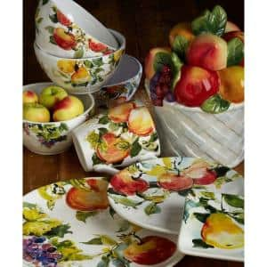 88 oz. Ambrosia 3-D Fruit Basket Multicolored Cookie Jar