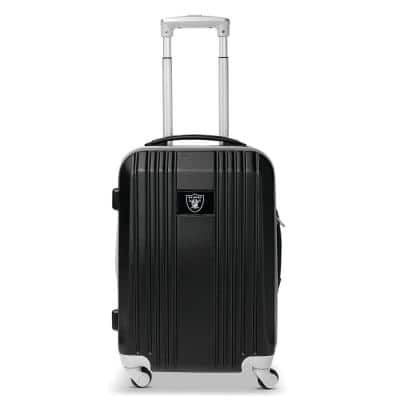 NFL Oakland Raiders 21 in. Black Hardcase 2-Tone Luggage Carry-On Spinner Suitcase