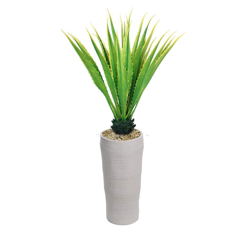 Vintage Home 69 In Real Touch Agave Plant In Resin Planter Vhx154218 The Home Depot