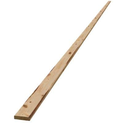1 in. x 4 in. x 14 ft. Pine Furring Strip Board
