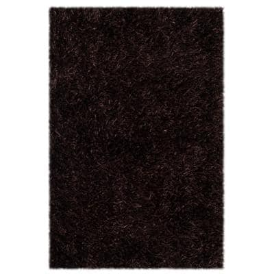 New Orleans Shag Chocolate 2 ft. x 3 ft. Solid Area Rug
