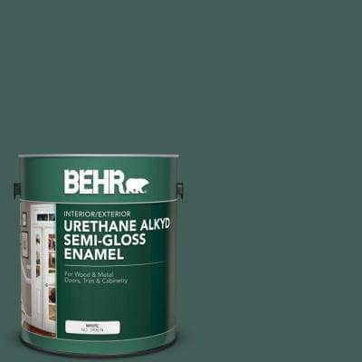 1 gal. #M440-7 Rainforest Urethane Alkyd Semi-Gloss Enamel Interior/Exterior Paint