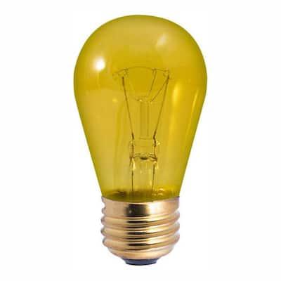 11-Watt S14 Transparent Yellow Dimmable Incandescent Light Bulb (25-Pack)