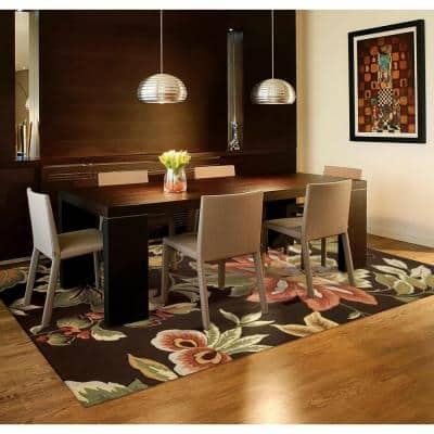 French Country Chocolate 3 ft. x 4 ft. Distressed Transitional Area Rug