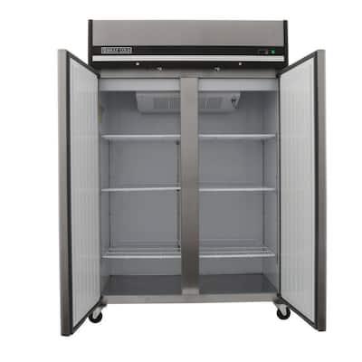 X-Series 49 cu. ft. Double Door Commercial Reach In Upright Freezer in Stainless Steel