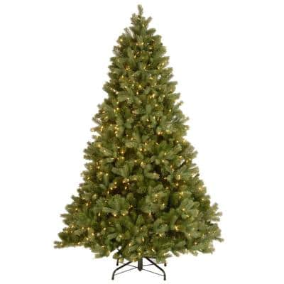 7-1/2 ft. Feel Real Down Swept Douglas Fir Hinged Artificial Christmas Tree with 750 Clear Light + PowerConnect System