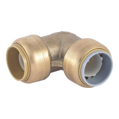 3/4 in. Push-to-Connect Brass 90-Degree Polybutylene Conversion Elbow Fitting