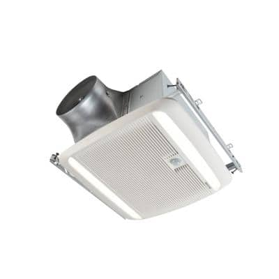 ULTRA GREEN ZB Series 80 CFM Multi-Speed Ceiling Bathroom Exhaust Fan with LED Light and Motion Sensing, ENERGY STAR*