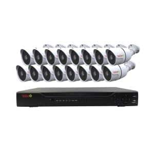 Aero HD 1080p 16-Channel Video Security System with 16 Indoor/Outdoor Bullet Cameras