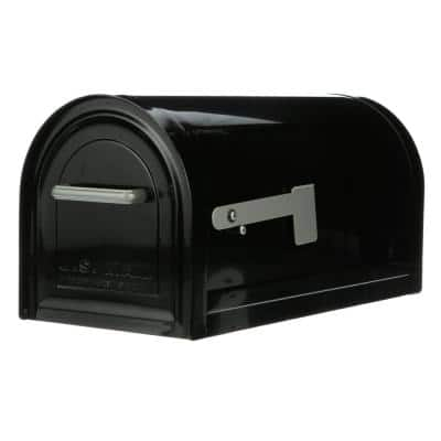 Reliant Large, Locking, Post Mount Mailbox, Black