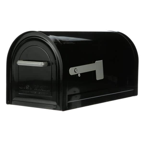 Gibraltar Mailboxes Reliant Large Locking Post Mount Mailbox Black Mb981b01 The Home Depot