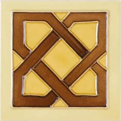 Hand-Painted Ceramic Dulce 6 in. x 6 in. x 6.35 mm Glazed Ceramic Wall Tile (2.5 sq. ft. / case)