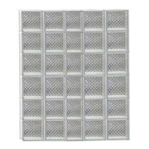 36.75 in. x 46.5 in. x 3.125 in. Frameless Non-Vented Diamond Pattern Glass Block Window