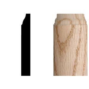 3/8 in. x 3/8 in. x 3-1/4 in. Oak Radius Base Corner Block Moulding