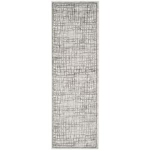 Adirondack Silver/Ivory 3 ft. x 8 ft. Runner Rug