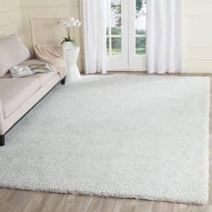 Ultimate Shag Silver/Ivory 8 ft. x 10 ft. Area Rug