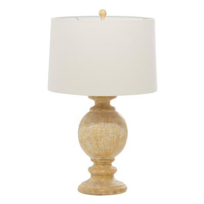 28 in. Beige Polystone Coastal Accent Lamp