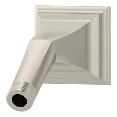 Carrington Shower Arm in Satin Nickel