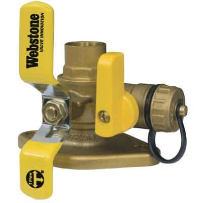 Isolator 3/4 in. SWT Full Port Forged Brass Uni-Flanged Ball Valve with Rotating Flange and Drain