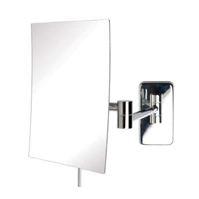 9 in. x 10 in. Wall Makeup Mirror in Chrome
