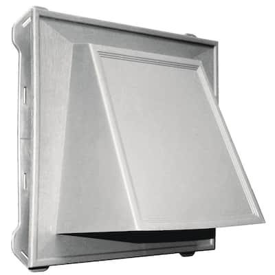 13 in. x 12 in. Rectangular Gray Plastic Built-in Screen Gable Louver Vent