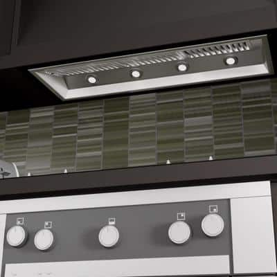 ZLINE 46 in. Ducted Wall Mount Range Hood Insert in Stainless Steel
