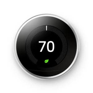 Nest Learning Thermostat - Smart Wi-Fi Thermostat - Polished Steel