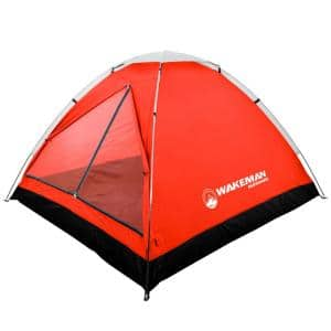 2-Person Red Dome Tent