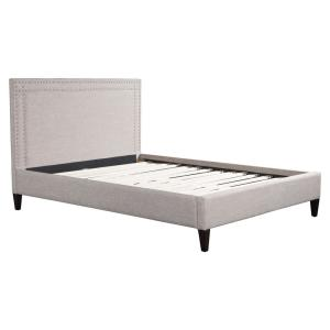 Renaissance Dove Gray King Sleigh Bed