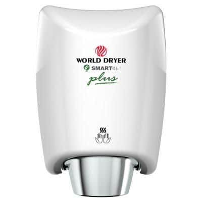 SMARTdri Plus High Efficiency Intelligent Automatic Electric Hand Dryer with Aluminum White Cover