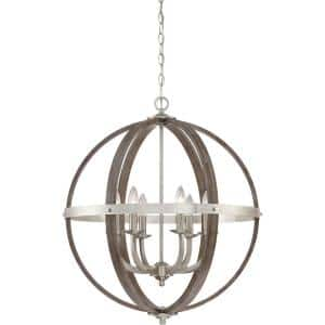 Fusion 6-Light Brushed Nickel Pendant