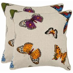 Emilie Multi 22 in. x 22 in. Throw Pillow (Set of 2)