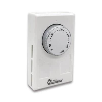 120-Volt - 277-Volt 3360-Watt - 7756-Watt White Wall Thermostat with 4 Wires Single or Double Poles
