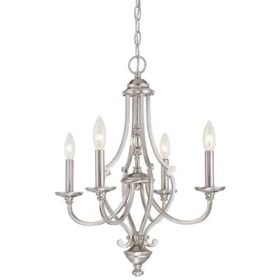 Savannah Row 4-Light Brushed Nickel Chandelier