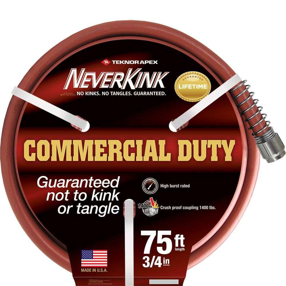 Neverkink Pro 3 4 In Dia X 75 Ft Commercial Duty Water Hose 9875 75 The Home Depot
