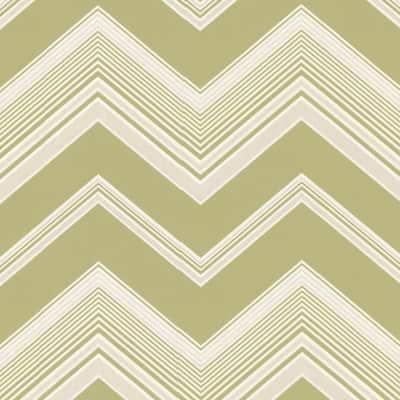 Bearden Light Green Zig Zag Light Green Paper Strippable Roll (Covers 56.4 sq. ft.)