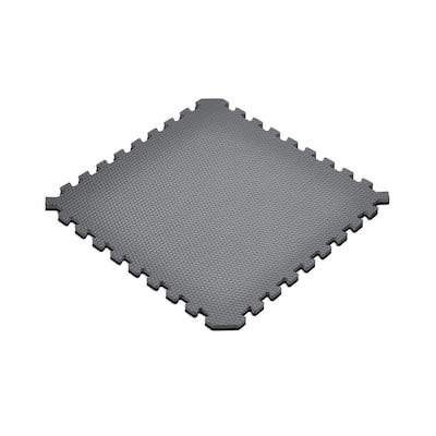 Gray/Black 24 in. x 24 in. EVA Foam Truly Reversible Sport MMA Interlocking Tile (12-Tile)