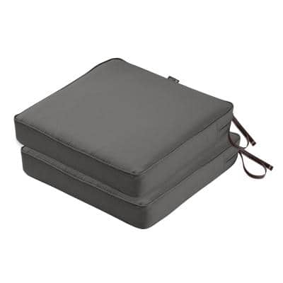 Montlake FadeSafe 19 in. L x 19 in. W x 3 in. T Square Outdoor Seat Cushion (2-Pack)