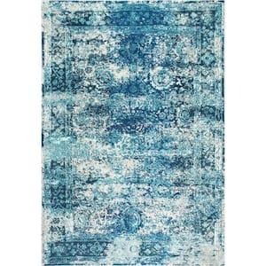Shuler Vintage Ocean Blue 7 ft. x 9 ft.  Area Rug