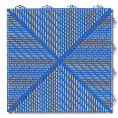 Soft 1.24 ft. x 1.24 ft. Polyethylene Interlocking Deck Tiles in Light Blue 16-per case/24.64 sq. ft.