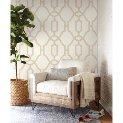 Woven Trellis Spray and Stick Wallpaper (Covers 56 sq. ft.)