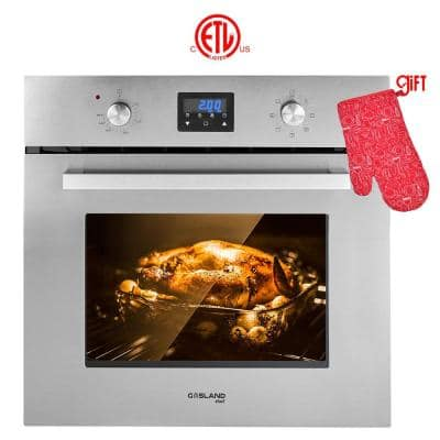 24 in.Built-in Single Electric Wall Oven in Stainless Steel with Cooling Down Fan, ETL