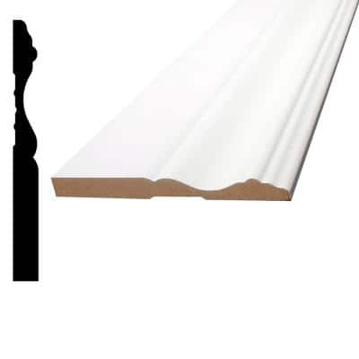 3/8 in. x 3-7/8 in. x 96 in. MDF Primed Fiberboard Base Moulding