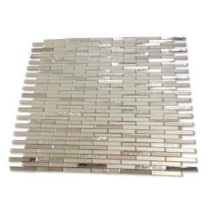 Specchio Metallic Shine 12-3/4 in. x 12 in. x 4 mm Polished and Frosted Glass Mirror Mosaic Tile
