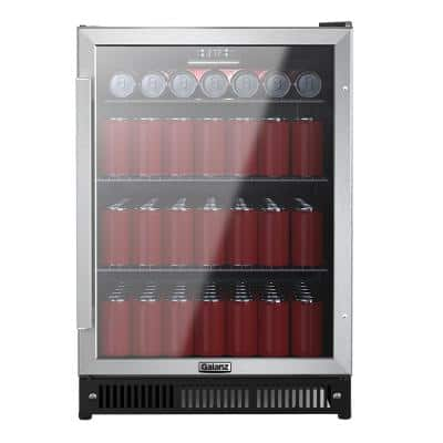 21 in. 172 (12 oz.) Can Beverage Center Cooler in Stainless Steel