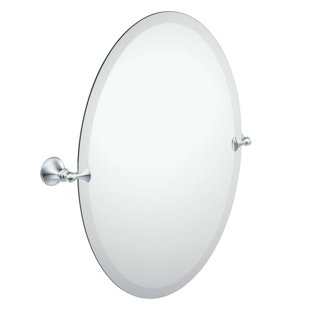 Moen Glenshire 26 In X 22 In Frameless Pivoting Wall Mirror In Chrome Dn2692ch The Home Depot