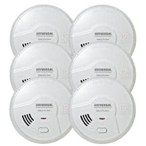 2 in. 1 Smoke and Fire Detector, 10-Year Sealed Battery Operated Dual Sensing Microprocessor Intelligence (Case of 6)