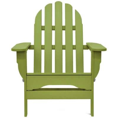 Icon Lime Green Plastic Folding Adirondack Chair