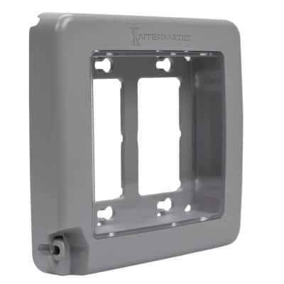 WP6200 Plastic Gray Double-Gang Low-Profile In-Use Weatherproof Cover 16 Configurations