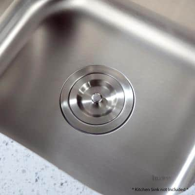 3-1/2 in. Kitchen/Bar Sink Deluxe Basket Strainer and Stopper with Lift Out Basket